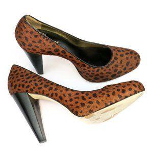 "Banana Republic Leopard Calf Hair Leather 4"" Heels"